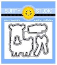 Sunny Studio Loveable Llama Clear Stamp Set