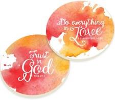 Car Coasters, 2pk- Love God