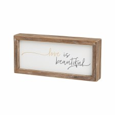 Collins Wood Box Sign- Love Is Beautiful