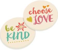 Car Coasters, 2pk- Love & Kind