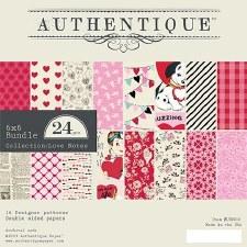Authentique Love Notes 6x6 Paper Pad