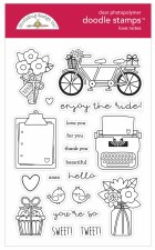 Love Notes Stamp/Dies- Love Notes Doodle Stamps