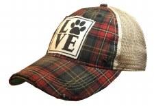 Women's Trucker Baseball Cap- Love (Paw)