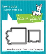 Lawn Fawn Love Poems Craft Dies