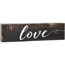 Skinny & Small Wood Sign- Love