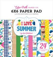 I Love Summer 6x6 Paper Pad