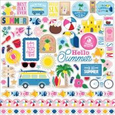 I Love Summer Element Sticker Sheet