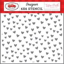 Cupid & Co. 6x6 Stencil- Love You