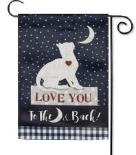 Garden Flag, Suede- Love You Cat