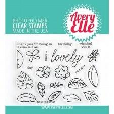 Avery Elle Lovely Clear Stamp Set