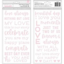 Lovely Moments Thickers- Foam Phrases