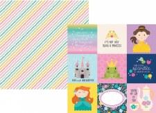 Little Princess 12x12 Paper- 4x4 Elements
