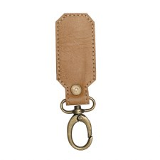 Myra Key Fob- Leather, Light Brown