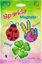Diamond Facet Art Kit- Sparkle Luck Magnets, 3pk