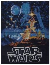 """Dimensions Cross Stitch Kit, 11""""x14""""- Star Wars: Luke & Leia"""