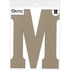 "8"" Chipboard Letter- M"