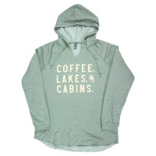 Coffee, Lakes, Cabins Sweatshirt