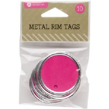 Hampton Art Metal Rim Tags- Magenta