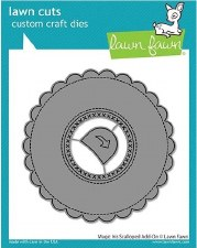 Lawn Fawn Interactive Craft Dies- Magic Iris Add-On, Scalloped Circle