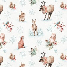 Magical Christmas Fabric- Animals All Over