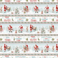 Magical Christmas Fabric- Repeating Stripes