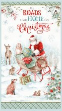 Christmas & Winter Fabric Panel- Magical Christmas