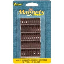 "Darice Magnets- 3/4"" Round Disc, 50ct"