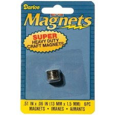 Darice Magnets- Super Heavy Duty, .5x13mm