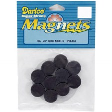 "Darice Magnets- 5/8"" Round Disc"