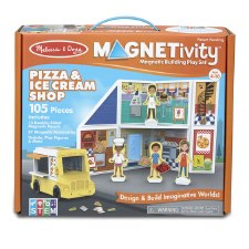 Magnetivity Magnetic Building Play Set- Pizza & Ice Cream Shop