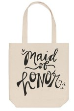 Collins Canvas Tote- Maid of Honor