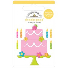 Hey Cupcake Doodle-Pops Stickers- Make a Wish