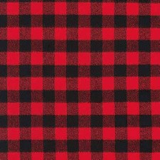 Bolted Fabric- Mammoth Red Checked