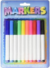 Ceramic & Glass Markers, 10pk