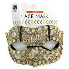 Half Mask- Gold Lace