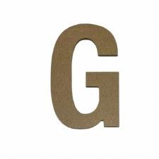 """Hampton Art 5"""" Unfinished MDF Letter- G"""