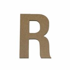 """Hampton Art 5"""" Unfinished MDF Letter- R"""