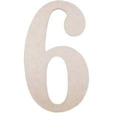 """MDF Number, 9.5""""- 6"""