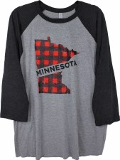 MN Buffalo Plaid Raglan- M