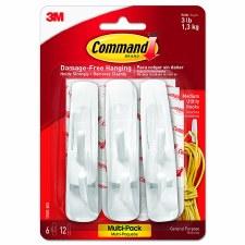 Command Medium Hooks, 6ct