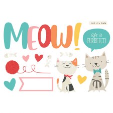 Simple Pages: Page Pieces Die Cuts- Meow
