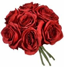 Ashley Rose Wedding Bouquet- Merlot