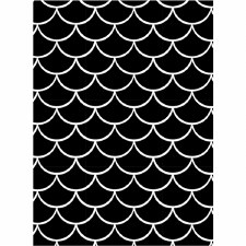 Darice Embossing Folder- Backgrounds- Mermaid Scales