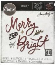 Tim Holtz Christmas Thinlits- Merry & Bright