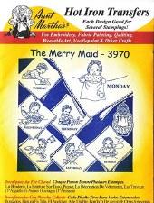Aunt Martha's Iron On Transfers- Merry Maid #3970