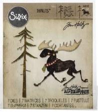 Tim Holtz Christmas Thinlits- Merry Moose