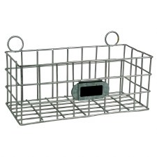 "Metal Basket 7.25"" Galvanized"