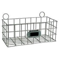 "Metal Basket 7.25"" Galvanized"