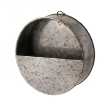 Galvanized Metal Wall Pocket, 6""