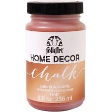 FolkArt Home Decor Chalk Paint 8 oz- Metallic Copper